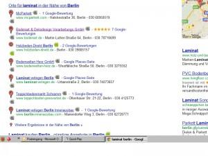 Google Places Treffer Berlin