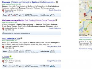 Google Places Treffer Berlin